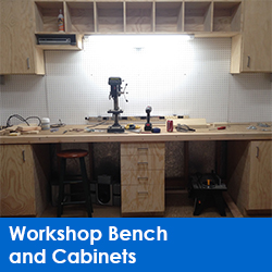 Workshop Bench and Cabinets